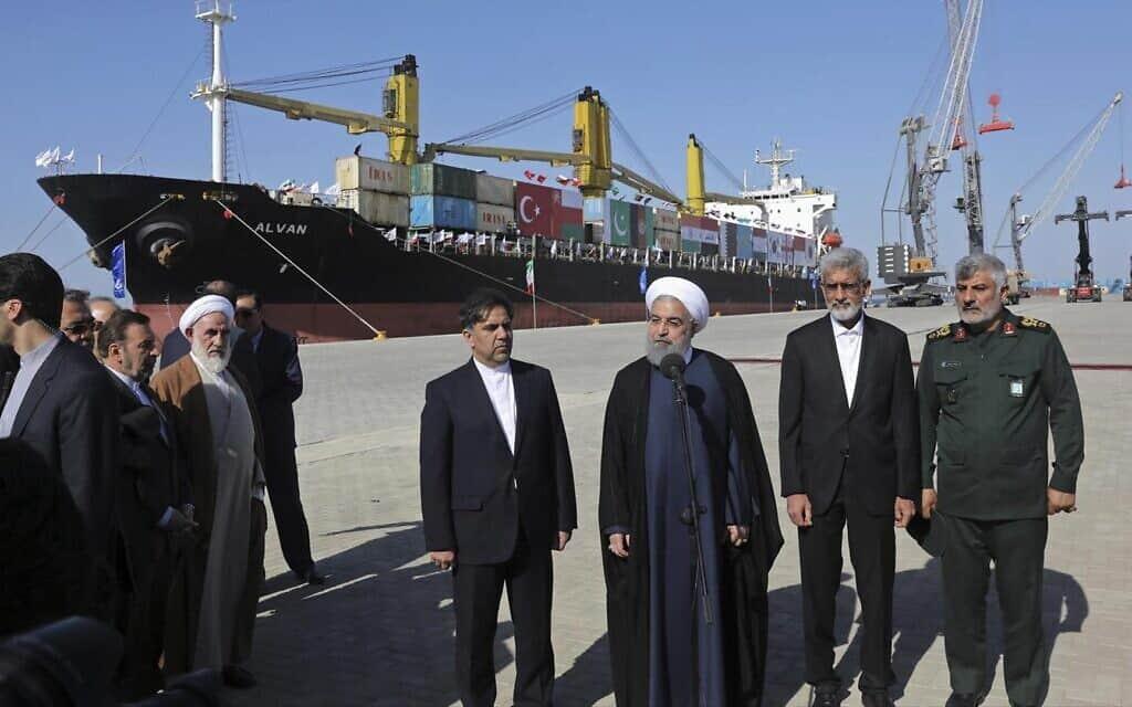 נשיא איראן חסן רוחאני (צילום: AP)