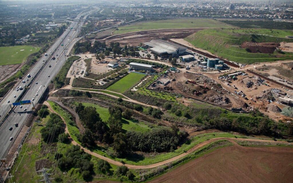פארק המיחזור חירייה על שם אריאל שרון, מבט על (צילום: איגוד ערים דן לתברואה)