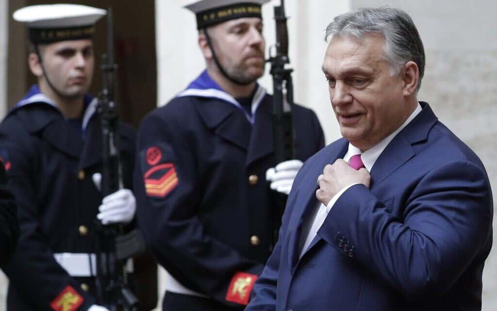 ויקטור אורבן מבקר ברומא, פברואר 2020 (צילום: AP Photo/Andrew Medichini)