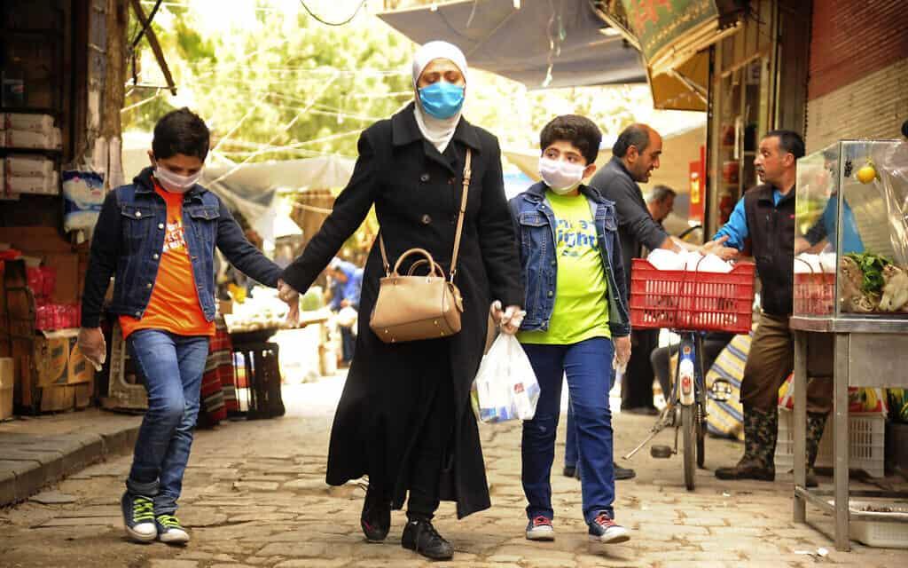 עידן הקורונה בסוריה, 18 באפריל 2020 (צילום: SANA via AP)