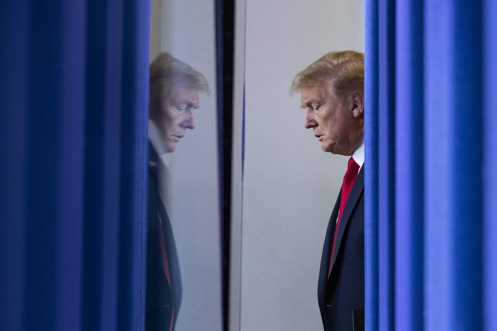 דונלד טראמפ בבית הלבן ב-22 באפריל 2020 (צילום: AP Photo/Alex Brandon)