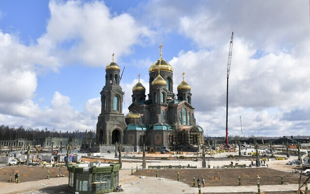 הקתדרלה הראשית של הכוחות המזוינים של הפדרציה הרוסית בפארק פטריוט ליד מוסקבה, 28 באפריל 2020 (צילום: סרגיי קיסלב, סוכנות הידיעות של מוסקבה באמצעות AP)