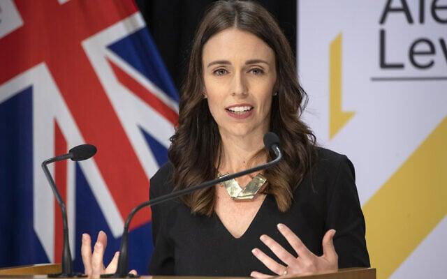 ראשת ממשלת ניו זילנד, ג'סינדה ארדרן. מאי 2020 (צילום: Mark Mitchell/New Zealand Herald, Pool via AP)