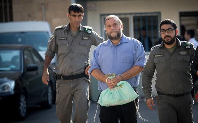 בנצי גופשטיין מובל להארכת מעצר בירושלים ב-22 באוקטובר 2017 (צילום: יונתן זינדל/פלאש90)