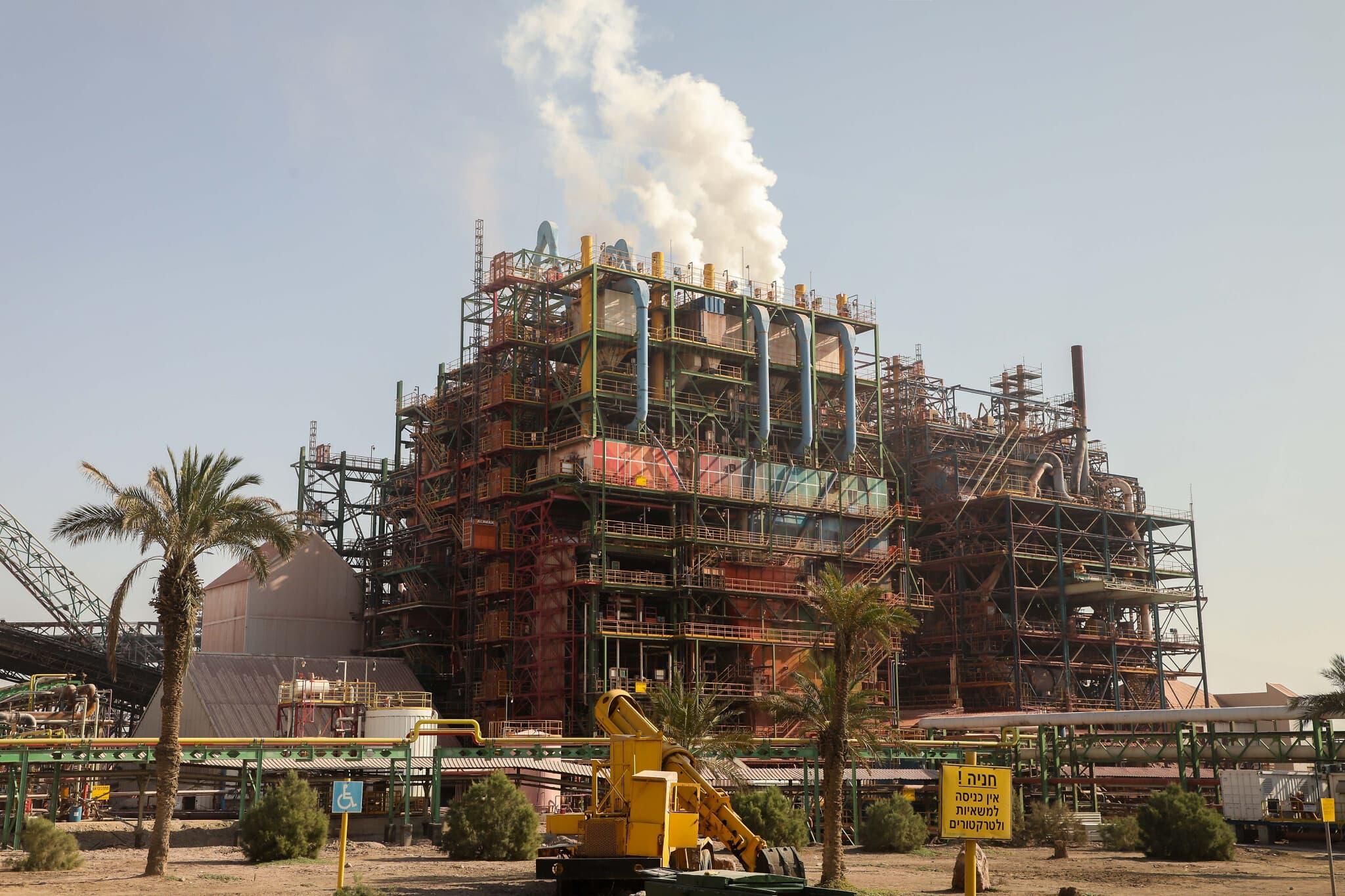 מפעלי ים המלח,  2018 (צילום: Issac Harari/Flash90)