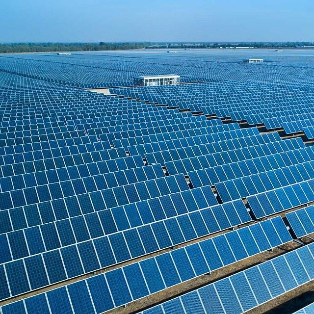 שדה פאנלים סולאריים בדרום הארץ (צילום: משה שי/פלאש90)