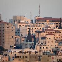 מבט על העיר הפלסטינית טול-כרם, בצפון הגדה המערבית (צילום: Gili Yaari/Flash90)