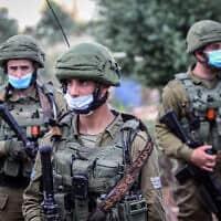 """חיילי צה""""ל ברצועת עזה, מאי 2020 (צילום: Nasser Ishtayeh/Flash90)"""