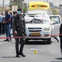 אירוע ירי בלוד, יוני 2020 (צילום: פלאש 90)