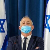 בני גנץ בישיבת הקבינט השבועית, ב-7 ביוני 2020 (צילום: Marc Israel Sellem/POOL)