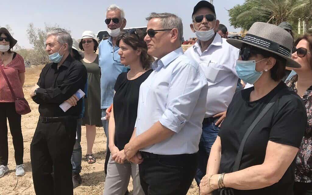 ראשי מרצ בסיור של המפלגה בגדה המערבית. 4 ביוני 2020 (צילום: אמיר בן-דוד)