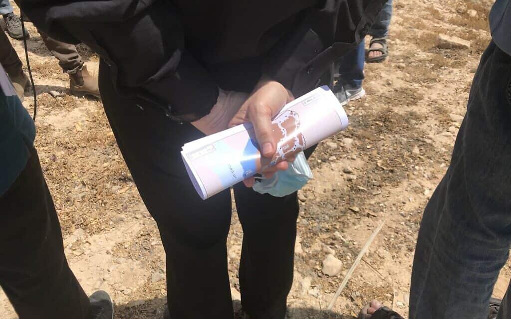 יוסי ביילין בסיור של מרצ בגדה המערבית. 4 ביוני 2020 (צילום: אמיר בן-דוד)