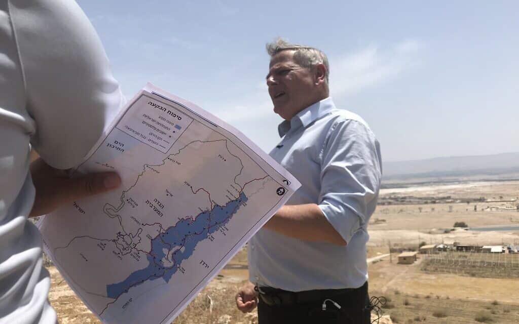 ניצן הורוביץ בסיור של מרצ בגדה המערבית. 4 ביוני 2020 (צילום: אמיר בן-דוד)