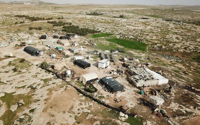 סוסייא, כפר בדואי פלסטיני בדרום הגדה המערבית (צילום: המועצה האזורית הר חברון)