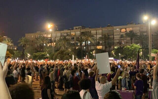 הפגנה נגד הסיפוח, 6.6.2020 כיכר רבין