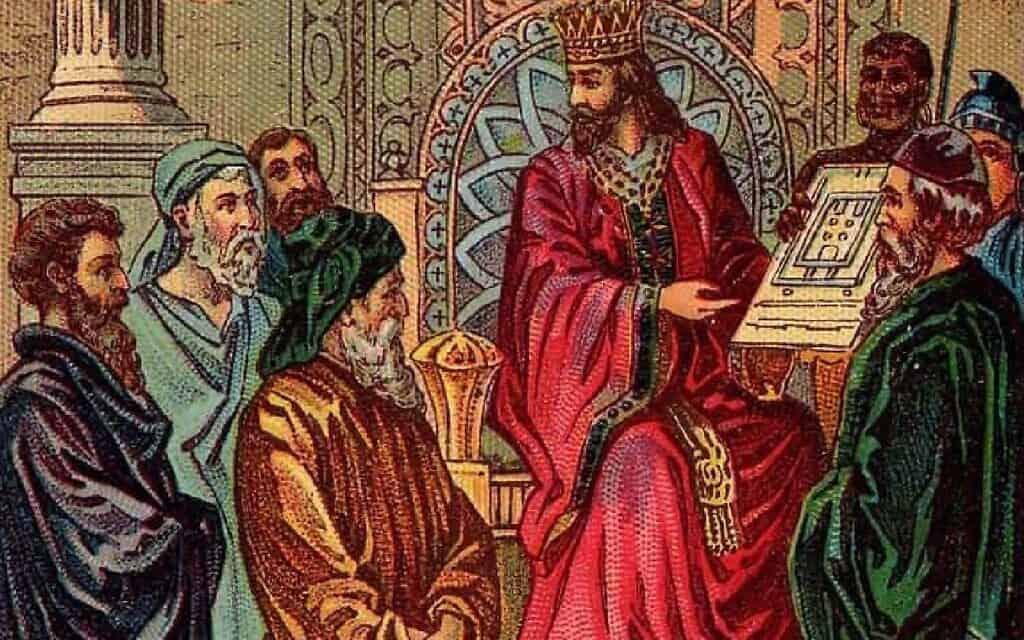 המלך שלמה, איור עתיק