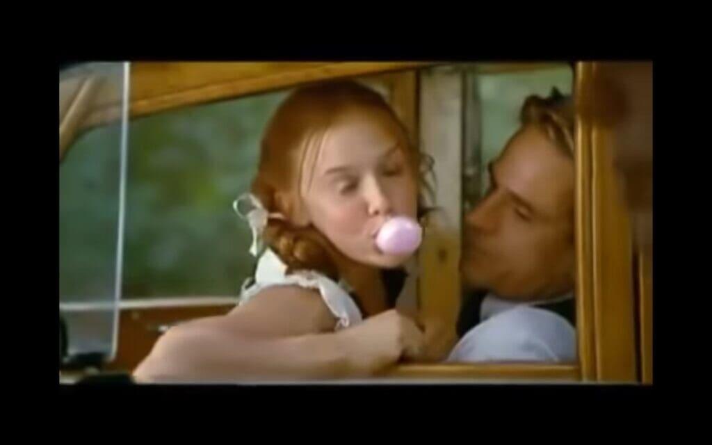צילום מסך מתוך הטריילר לסרט לוליטה של אדריאן לין  על פי הספר של ולדימיר נבוקוב, 1997
