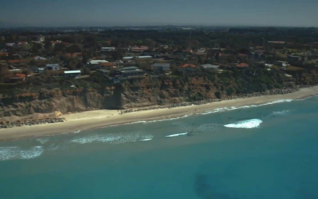 מצוק בית ינאי דרום, צילום מסך מתוך סרטון צילום אויר של  IL MCCP (צילום: מצוק בית ינאי דרום, צילום מסך מתוך סרטון צילום אויר של IL MCCP)