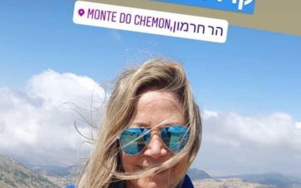 צילום מהאינטסגרם של מיקי חיימוביץ שדיווחה לעוקביה על טיול לחרמון בשבת, אחרי שהצביעה להפלת הצעת החוק לתחבורה ציבורית בשבת