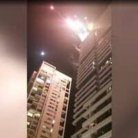זיקוקים במסיבת בר מצווה במגדל W, צילום מסך מסרטון של ניר פקין