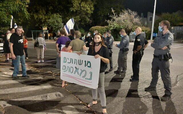 """הפגנה """"להצלת הדמוקרטיה"""" (צילום: גלית מיר)"""