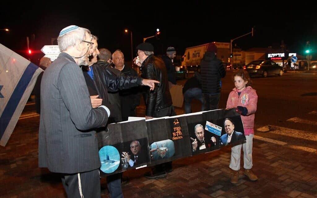 אוליביה ויסמין דה-לם בהפגנה