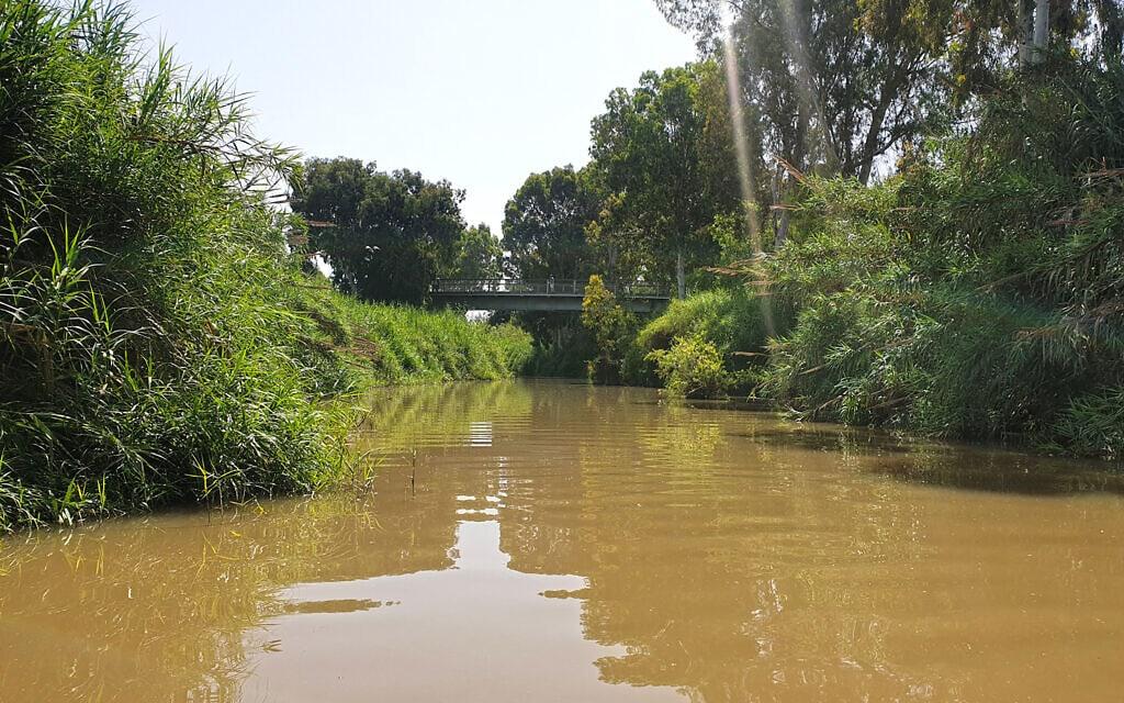 מקטע רמת גן בנחל הירקון המתוכנן לפתיחה לשייט (צילום: אביב לביא)