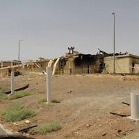 בתמונה הזו, שפרסם הארגון לאנרגיה אטומית של איראן ב-2 ביולי 2020, נראה מבנה שניזוק משריפה במתקן להעשרת אורניום בנתנז, 322 קילומטרים מדרום לבירה טהרן, איראן (צילום: הארגון לאנרגיה אטומית של איראן באמצעות AP)