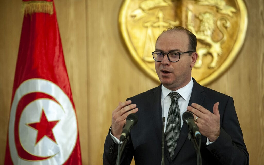 ראש ממשלת תוניסיה שהתפטר, אליאס פח'פאח', ארכיון, ינואר 2020 (צילום: AP Photo/Hassene Dridi)