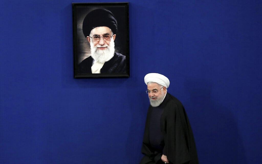 נשיא איראן, חסן רוחאני (צילום: AP Photo/Ebrahim Noroozi)