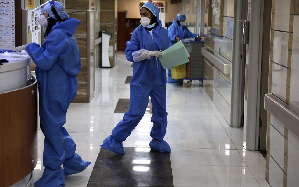 בית חולים בטהראן בעידן הקורונה, יוני 2020 (צילום: AP Photo/Vahid Salemi)