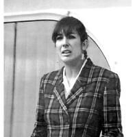 גיליין מקסוול בטנריף, 7 בנובמבר 1991 (צילום: Dominique Mollard, AP)
