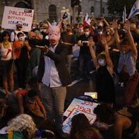 הפגנה בבלפור קוראת לראש הממשלה בנימין נתניהו להתפטר, 14.7.2020