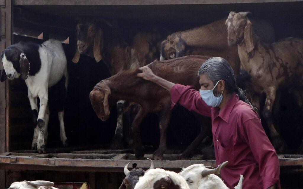 עידן הקורונה בהודו, אילוסטרציה, יולי 2020, למצולם אין קשר לנאמר בידיעה (צילום: AP Photo/Rajanish Kakade)