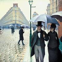 ציור של גוסטאב קאליבוטה: יום גשום בפאריז – 1877