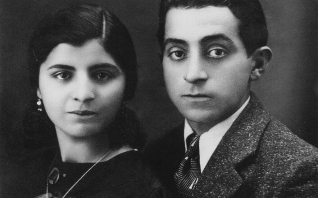 הוריה של אסתר אמיני. חנה לוי, 14, ופאטוללה אמינוף, 34, כזוג צעיר (צילום: Courtesy)