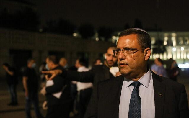 משה ליאון, ראש העיר ירושלים. אפריל 2020 (צילום: Yonatan Sindel/Flash90)