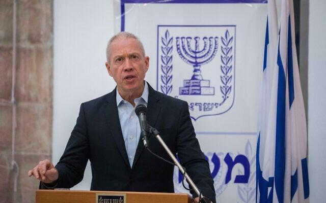 יואב גלנט בטקס חילופי שר החינוך בירושלים, 18 במאי 2020 (צילום: אוליבייה פיטוסי, פלאש 90)