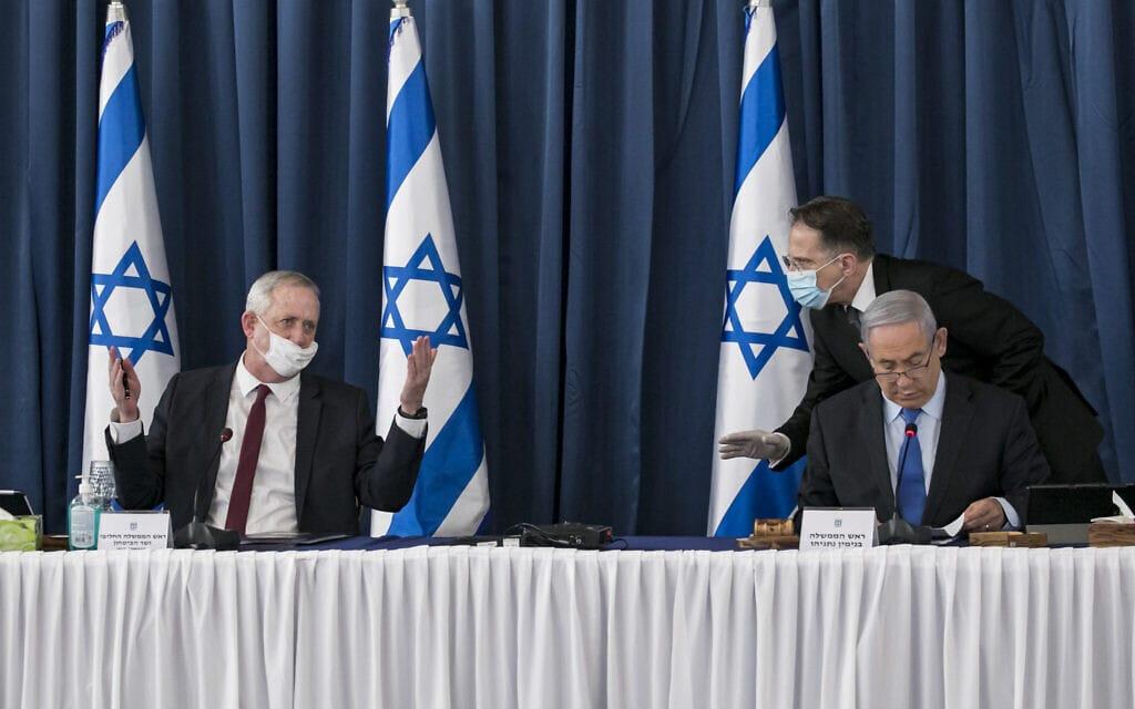 ישיבת ממשלה ביוני 2020 (צילום: Olivier Fitoussi/Flash90)