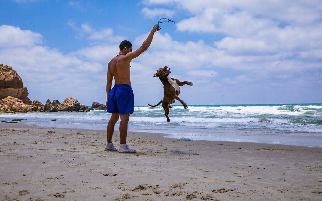 אילוסטרציה, חוף עין הים, יולי 2020, למצולם אין קשר לנאמר בכתבה (צילום: Anat Hermony/Flash90)