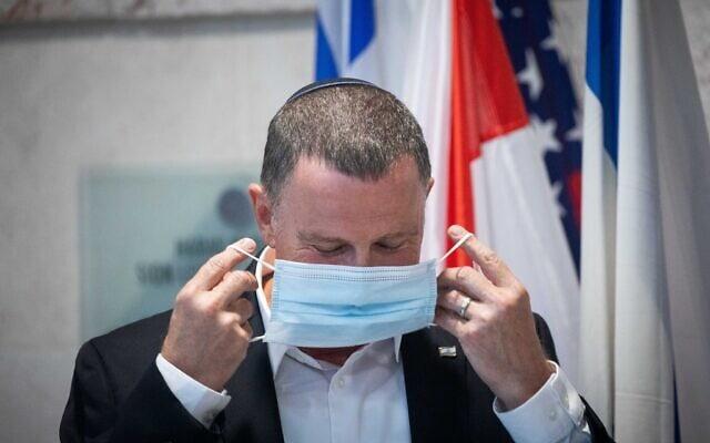 שר הבריאות יולי אדלשטיין, יולי 2020 (צילום: Yonatan Sindel/Flash90)