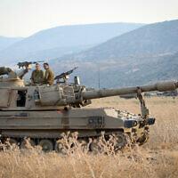 כוחות צבא סמוך לגבול ברמת הגולן. 27 ביולי 2020 (צילום: David Cohen/Flash90)