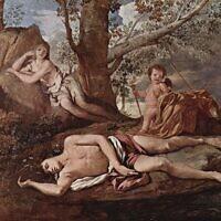 נרקיסוס ואקו, ציור: ניקולא פוסאן, 1629, מוזיאון הלובר