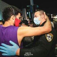 הפגנה בתל אביב, 18.7.2020 (צילום: Boaz Fradkin@ Photographe)