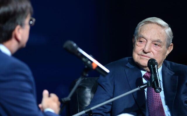 סורוס בוועידת קונקורדיה בניו יורק, 20 בספטמבר 2016 (צילום: ריקרדו סבי/ Getty Images עבור ועידת קונקורדיה)