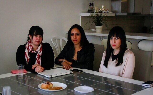 משמאל לימין: דסי ארליך, אלי סאפר וניקול מאייר בתמונה משותפת בירושלים, 29 בנובמבר 2018 (צילום: ג'ייקוב מגיד)