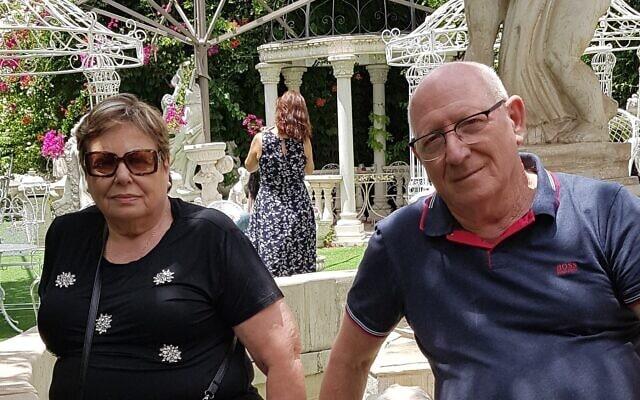 דויד רייכר ורעייתו רבקה, יוני 2020 (צילום: באדיבותם)
