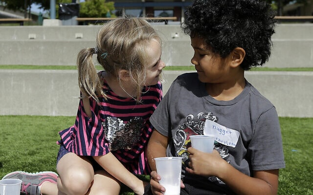 אילוסטרציה, קייטנה לילדים נזילים מגדרית בקליפורניה, ארצות הברית, 2017 (צילום: AP Photo/Jeff Chiu)