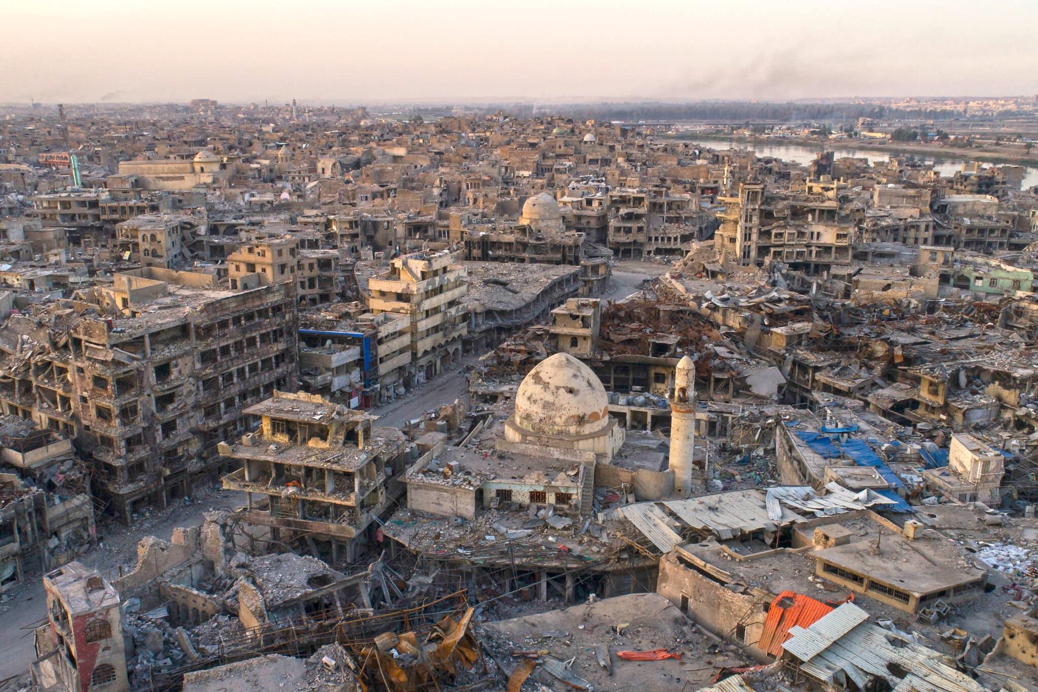 מבט-על על העיר ההרוסה מוסול שבעיראק, ב-15 בנובמבר 2017 (צילום: AP Photo/Felipe Dana)