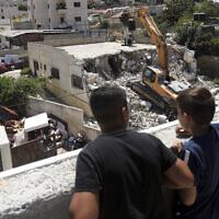 ארכיון, הריסת בתי פלסטינים במזרח ירושלים, אוגוסט 2019 (צילום: AP Photo/Mahmoud Illean)